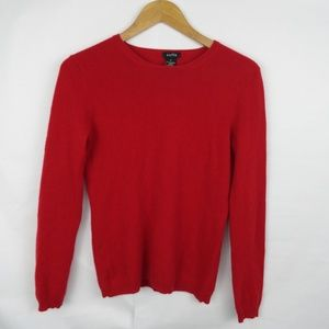 Sofie 100% Cashmere Sweater Red Size Small